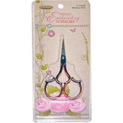"Sullivans Heirloom Embroidery Scissors Leaf Handle 4""-copper"