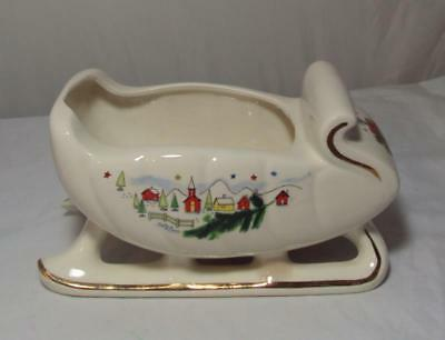 VTG Stanford Sebring Holiday Christmas Sleigh Planter Vase