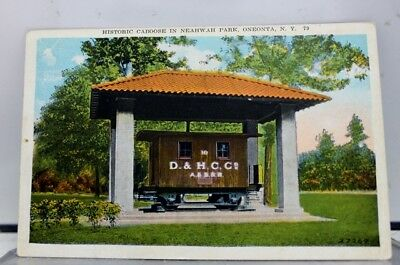 New York NY Oneonta Neahwah Park Caboose Postcard Old Vintage Card View Standard