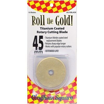Roll The Gold! Titanium Coated Rotary Cutting Blade Refills-45mm 10/pkg