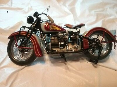 Danbury Mint Rare 1938 Indian Four Motorcycle 1:10 DieCast Model