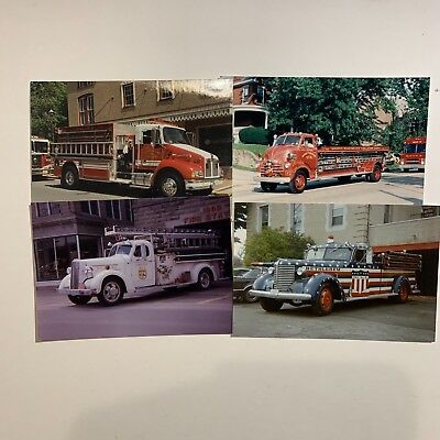 22 Color 3 1/2 X5 Photos of Various Fire Apparatus DCFD Lawrence Bethlehem