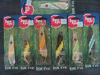 QTY 7 Eppinger Monarch Evil Eye Spoons 1/2oz 14gr - Fishing Lure Made in USA M4