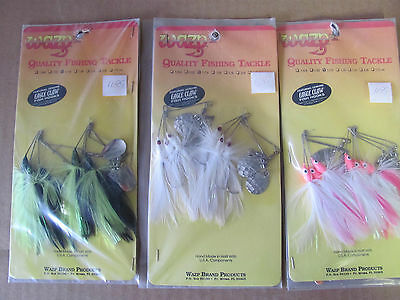 WAZP Spinner Bait Tackle 18 Lures! 1/16oz with Genuine Eagle Claw Hooks 2-1