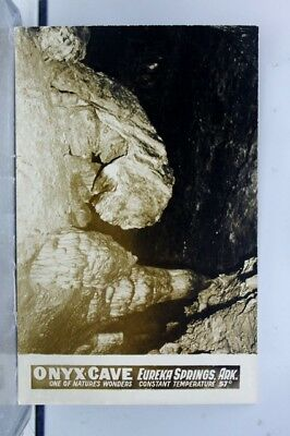 Arkansas AR Eureka Springs Onyx Cave Natures Wonders Postcard Old Vintage Card