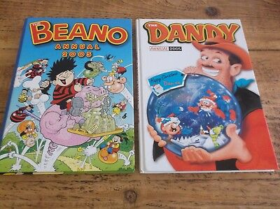 The Beano And Dandy Annuals For 2005.