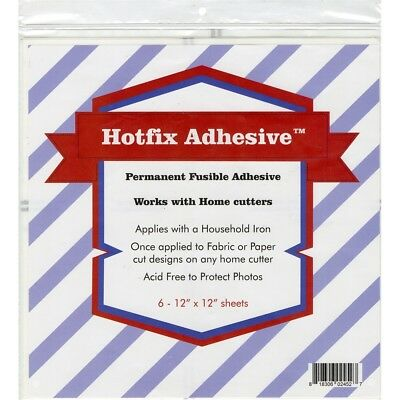 "Hotfix Permanent Fusible Adhesive Sheets 6/pcs-12""x12"""