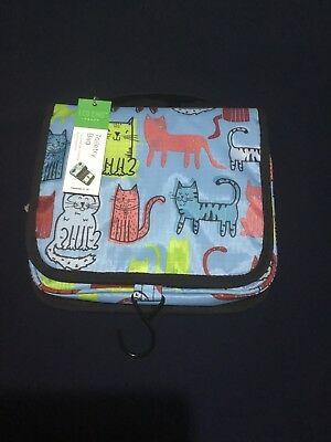 Eco Chic Funky Cats Toiletries Bag