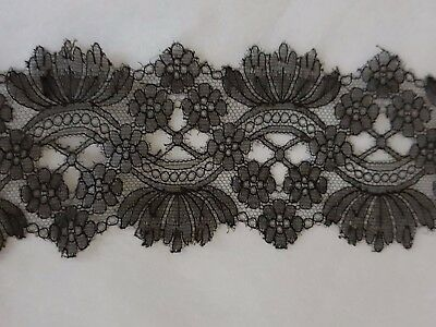 """STUNNING CHANTILLY LACE INSERTION 2 yards by 3"""" very fine and delicate. Perfect"""