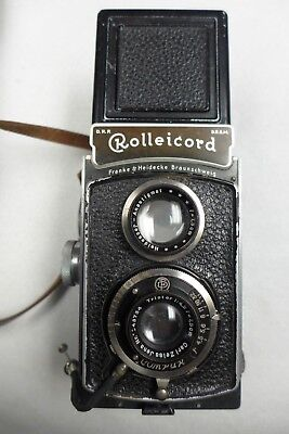 Rolleicord II (type 1) 1936-1937 Triotar 75mm f4.5 taking lens with case & strap