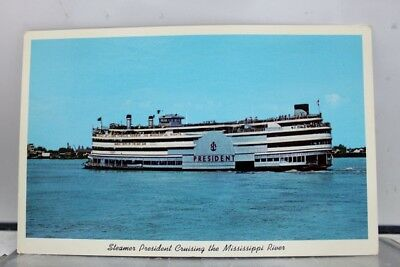 Louisiana LA New Orleans Steamer President Mississippi River Postcard Old View