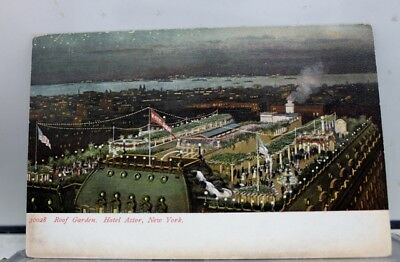 New York NY NYC Hotel Astor Roof Garden Postcard Old Vintage Card View Standard