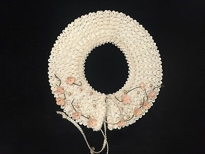 1950's Collar With Unusual Ribbon Weave