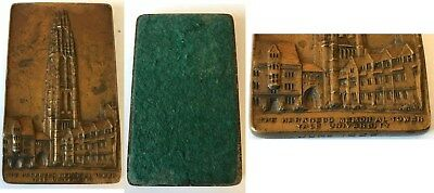 Antique 1926 Bronze Yale University Harkness Tower Paperweight VG condition
