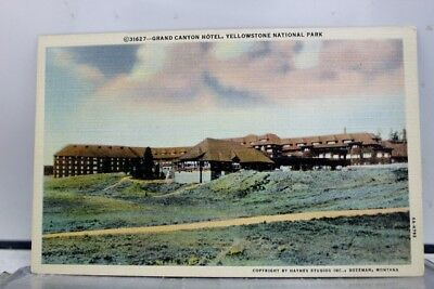 Yellowstone Park Grand Canyon Hotel Postcard Old Vintage Card View Standard Post