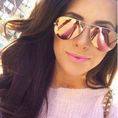 Ray-Ban RB3025 019/Z2 62mm XL Copper Pink Flash Aviator Silver Frame Authentic