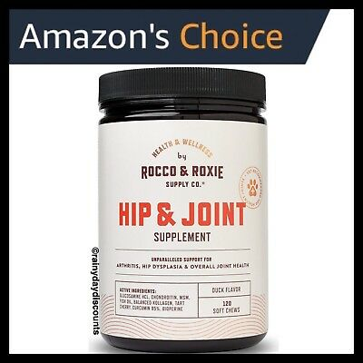 Rocco & Roxie Dog Hip & Joint Soft Chews | Glucosamine Chondroitin MSM 120 Count