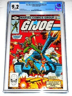 G.I. Joe, A Real American Hero #1 CGC 9.2 White Pages (Marvel, 1982) COPPER KEY!