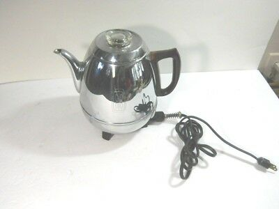Vintage GE General Electric Percolator Coffee Pot works well Model 33P30