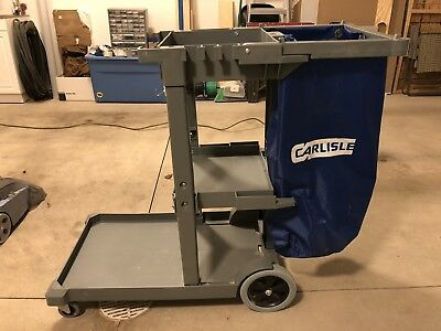 Commercial Housekeeping Janitorial cart with Vinyl Bag