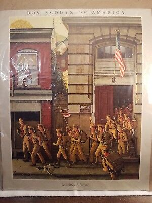 """Vintage Boy Scouts Of America Poster 11""""x13.5"""""""