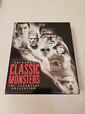 Universal Classic Monsters: The Essential Collection (Blu-ray Disc, 2012, 8-Disc