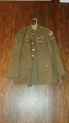 WW2 US Army USAAF Dress Jacket 39R Wool With Patches 3rd Air Force ETO