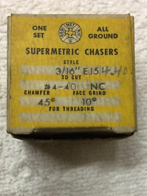 """Used Supermetric #4-40 Chasers for Geometric 3/16"""" EJ5 Die Head"""
