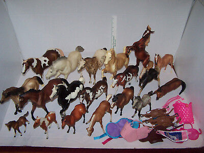 BREYER HORSES Diamond P & UNMARKED Mixed LOT LARGE TRADITIONAL & SMALL 19 HORSES