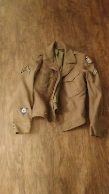 WW2 US Army USAAF Dress Jacket 34R Wool With Patches 5th Air Force ETO