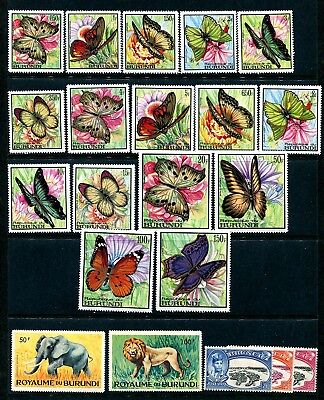 50+ MINT Stamps of BURUNDI Estate Clean-Out - Many Sets / Topicals Unpicked Lot