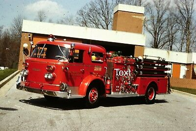 Fire Apparatus Slide Baltimore County Md Fire Dept. American LaFrance Engine 69