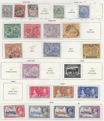 20 St. Kitts and Nevis Stamps from Quality Old Antique Album 1903-1935