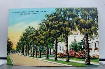 Louisiana LA St Charles Avenue New Orleans Postcard Old Vintage Card View Post