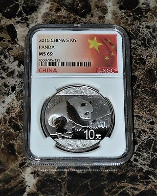 China 2016 S10Y Silver Panda NGC MS-69 MS 69 Chinese Coin Great Gift Idea Coin
