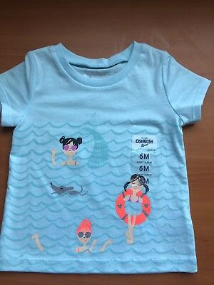 Oshkosh Baby Girls Summer  Tee Bnwt Size 6 Months Purchased In The Us