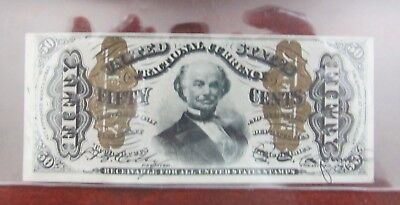 Fr 1333 Fifty Cent Fractional Currency Third Issue  Choice About Uncirculated