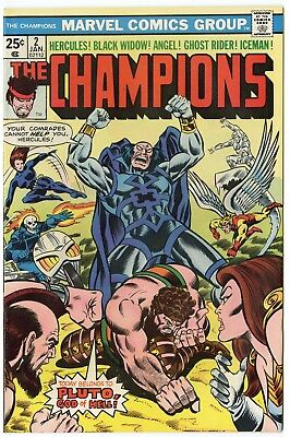 Champions #2 NM- 9.2 ow/white pages  Marvel  1976  No Reserve