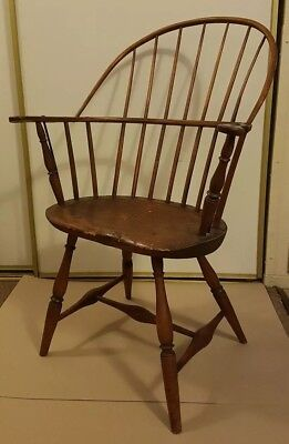 Antique 18th Century American New England Sack Back Windsor Chair