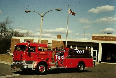 Fire Apparatus Slide Baltimore County Md Fire Dept  Mack Engine 14