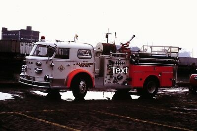 Fire Apparatus Slide Baltimore City Fire Dept Maryland American LaFrance Eng 32