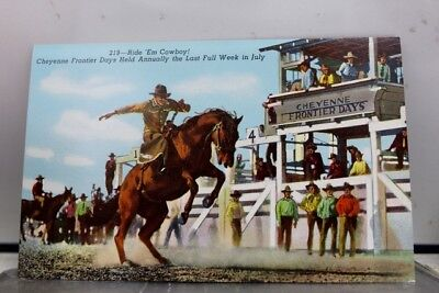 Wyoming WY Ride Em Cowboy Cheyenne Frontier Days Postcard Old Vintage Card View