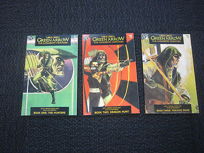 Green Arrow The Longbow Hunters set - 1987 mike grell