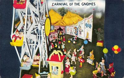 Carnival Of The Gnomes, Rock City Gardens, Fairyland Caverns, TN c1950s Postcard