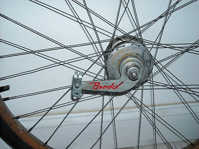 "Old 26"" Bicycle Wheel Bendix Aviator 2 Speed Hub Rat Rod Balloon Schwinn 1950's"