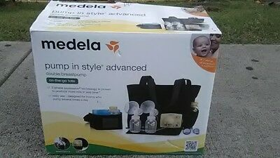 (2) Medela Pump in Style Double Breast Pump Advanced w/Extras & Battery Pack