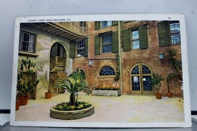 Louisiana LA Court Yard New Orleans Postcard Old Vintage Card View Standard Post
