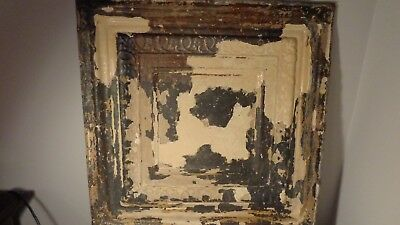 antique/vintage industrial tin ceiling tile , nice condition !