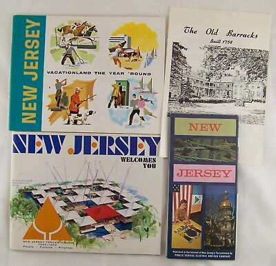 Vintage 1964 New Jersey Travel Booklets Brochures Souvenirs Map
