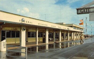 1960's AVIATION Terminal Airport Building at Wake Island Airfield - Pacific